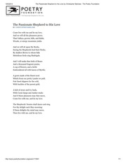 The Passionate Shepherd to His Love by Christopher Marlowe _ The Poetry Foundation