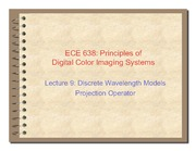 09. Discrete wavelength models projection operator - 2011
