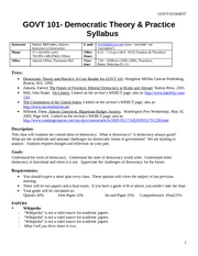 syllabus GOVT 101 fall 2007