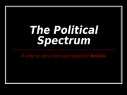 Day 11 - The Political Spectrum