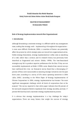 Article Review - Role of Implementation