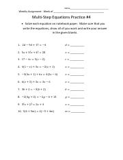 Multi Step Equations Practice #4-6.pdf