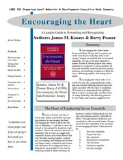 Encouraging the Heart.Kouze  & Posner.EBS 7 Essentials