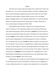 essay about the great gatsby death results from a dream in the  3 pages essay about empathy
