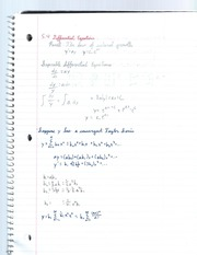 differential equations notes