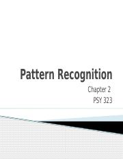 Pattern Recognition C.2