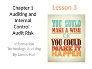 Chap01 Auditing and Internal Control - MWF Lesson 3