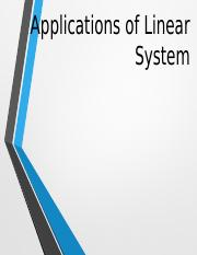 Applications of Linear System