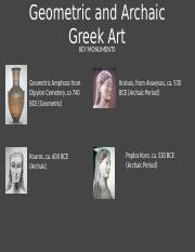 02.3 - Geometric and Archaic Greek Art