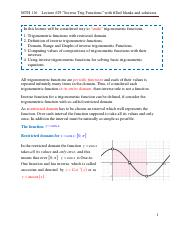 Lecture #29. Inverse Trig Functions with filled balnks and answers..pdf