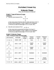 Molecular Shapes - WS2 Key CHEM 211 Dr Poutsma 1 Worksheet 2 ...