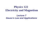 L07_Viet_Gauss¦s Law and Applications