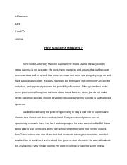 outliers essay #1