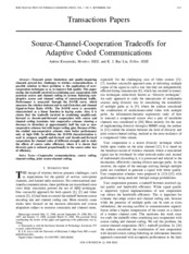 Source-Channel-Cooperation Tradeoffs for Adaptive Coded Communications