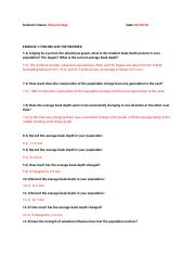 Finches Lab part 1 Answer sheet.docx - Students Name Mayra ...