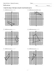 Printables Geometry Reflections Worksheet 12 reflections kuta software infinite geometry name date