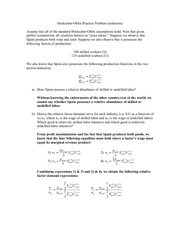 ECO364 Winter 2014 HO Practice Problem (solutions)
