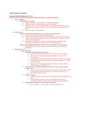 Study Guide for Chapter 9