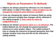 Lec 4(Objects as Parameters)