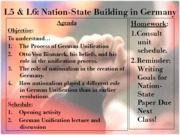 Making the Modern Nation-State Unit 2012-2013 - Lesson 5 6 - Germany