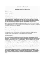 HR Business Plan FINAL Howarth