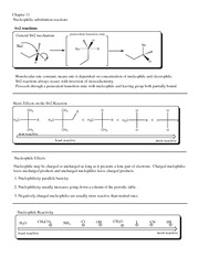 Nucleophilic Reactions notes