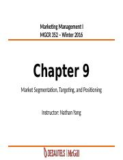 5_Chapter 9-Segmentation Targeting Positioning-Winter2016_MyCourses