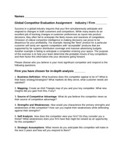 Global Strategy Competitor Evaluation Assignment