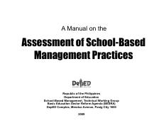 deped sbm manual pdf a manual on the assessment of school based rh coursehero com School-Based Management Practices deped revised school based management manual