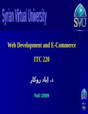 SVU - F09 - ITC220 - ZOUKAR - Lecture01 (Overview of EC) Ar
