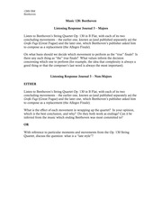 Music 128B Listening and Reading Journal 3 Prompts
