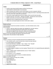 Writing Assignment 3 10K v. Annual Report Grading Rubric