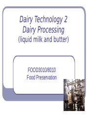 Lecture 8 Dairy Technology 2