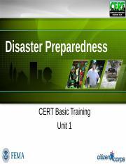 section_01_unit_1_ppt_508 pptx - Disaster Preparedness CERT