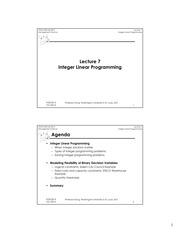 Lecture7 Notes Integer Linear Programming