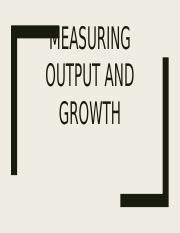 Measurment and Growth