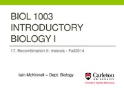BIOL1003 -17_Recombination II - Fall2014