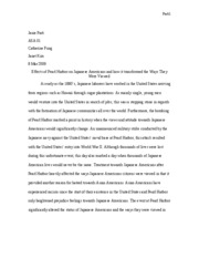 ASA 001 : HISTORICAL EXPERIENCES OF ASIAN AMERICANS - UC Davis -
