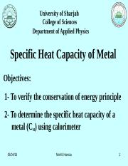 Specific Heat Capacity Phys for HS Lab.(1).ppt