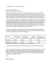 Accounting Unit 9 Discussion Post