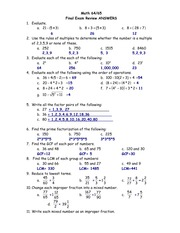 Final Exam Pretest to 7.5 Solutions