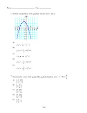 Quiz Solutions on Quadratic Function