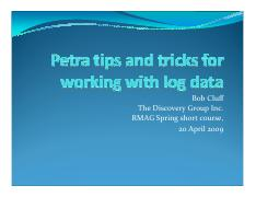 Petra tips and tricks short course_Working with log data.pdf