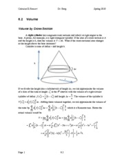 Calculus II Notes 6.2