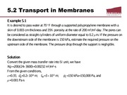 Examples for membrane transport mechanism