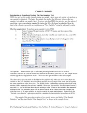 SPSS Study Guide Ch 5