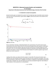 3 - Introduction to Enzyme rate equations