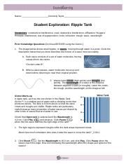Copy of Student Exploration_ Ripple Tank.pdf - Student ...