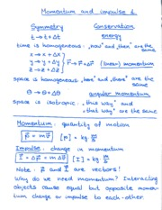 Momentum and Impulse 1 Notes