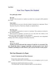 How Your Papers Are Graded.docx